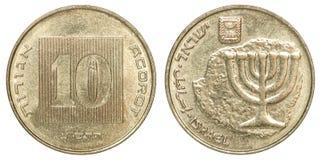 Münzen-Israel-agorot Lizenzfreie Stockfotos