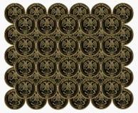 Münzen mit Adler Lizenzfreies Stockbild