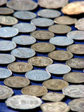 Münzen-Muster Stockbild