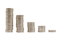 Münzen-Schritt-thailändischer Baht Lizenzfreies Stockbild