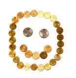 Münzen-smiley Stockfotos