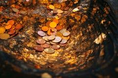Münzen-Spende lizenzfreies stockfoto