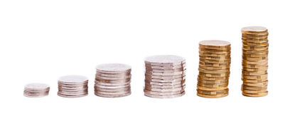 Münzen-Stapel Stockfoto