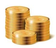 Münzen-Stapel, Vektor-Illustration Stockfotos
