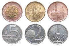 Münzen-Tscheche-korun Lizenzfreies Stockbild