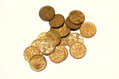 Münzen-Tscheche-Kronen Lizenzfreies Stockbild