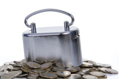 Münzen- u. Geldkasten Stockfotografie