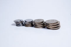 Münzen und Cashflow Stockfotografie
