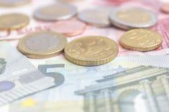 Münzen und Geld Lizenzfreies Stockfoto