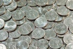 Münzen - USA-Viertel Stockfoto
