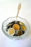 Münzen-Vase Stockfotos