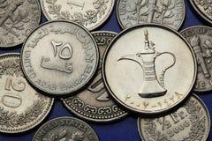 Münzen Vereinigte Arabische Emirates Lizenzfreie Stockfotos