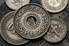 Münzen von Ägypten Lizenzfreies Stockfoto