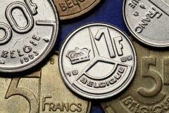 Münzen von Belgien Lizenzfreie Stockfotos