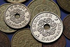 Münzen von Dänemark Lizenzfreies Stockbild