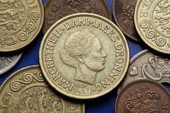 Münzen von Dänemark Stockfoto