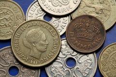 Münzen von Dänemark Lizenzfreie Stockfotografie
