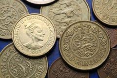 Münzen von Dänemark Stockfotografie
