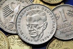 Münzen von Deutschland Lizenzfreie Stockfotos