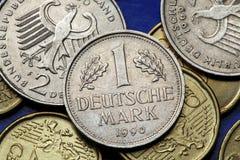 Münzen von Deutschland Stockbild