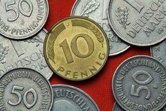 Münzen von Deutschland stockbilder