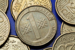 Münzen von Finnland Lizenzfreies Stockbild