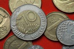 Münzen von Finnland lizenzfreie stockbilder