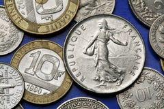 Münzen von Frankreich Lizenzfreies Stockbild