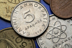 Münzen von Griechenland Stockfoto