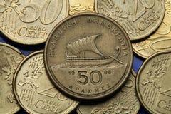 Münzen von Griechenland Stockfotos
