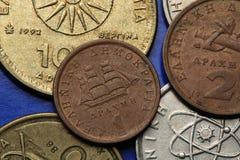 Münzen von Griechenland Lizenzfreie Stockfotos