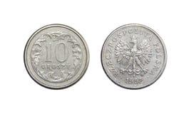 Münzen von Groschen Polens 10 Stockbilder
