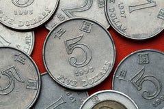 Münzen von Hong Kong Lizenzfreies Stockfoto