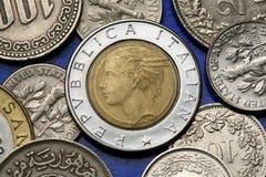 Münzen von Italien Lizenzfreie Stockfotos