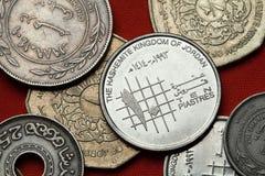 Münzen von Jordanien lizenzfreies stockfoto