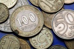 Münzen von Kasachstan Stockfotos
