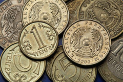 Münzen von Kasachstan Lizenzfreie Stockfotos