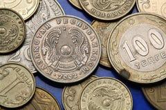 Münzen von Kasachstan Stockfotografie