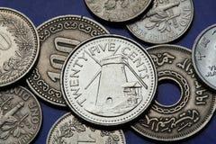 Münzen von Kolumbien Stockfoto