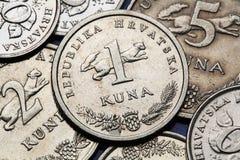 Münzen von Kroatien Stockfotos