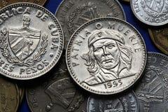 Münzen von Kuba Ernesto Che Guevara stockbilder