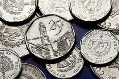 Münzen von Kuba Kubanischer konvertierbarer Peso Stockfotografie