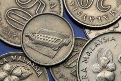Münzen von Malaysia Lizenzfreie Stockfotos