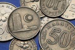 Münzen von Malaysia Lizenzfreies Stockfoto