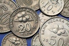 Münzen von Malaysia Lizenzfreies Stockbild