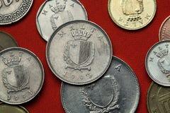 Münzen von Malta Lizenzfreies Stockbild