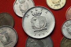 Münzen von Malta Stockfotografie