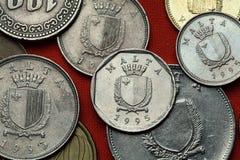 Münzen von Malta Lizenzfreie Stockbilder