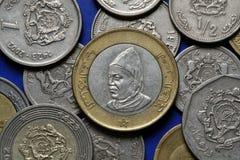 Münzen von Marokko Stockbild