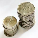 Münzen von Mauritius Stockbilder